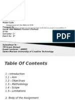 Assignment of the MBA of PFM