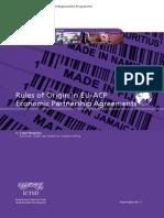 Rules of Origin in Eu Acp Economic Partnership Agreements