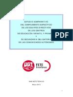 Estudio Comparativo Del Complemento Específico de Equipos Directivos
