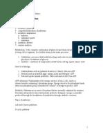 Metabolic Biochemistry Notes