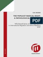 Cas Mudde Populisme