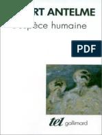 L'espèce Humaine - Robert Antelme