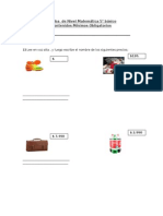Prueba Informal Matemática 5 Basico