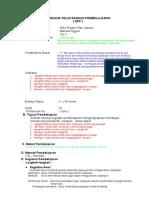Rencana Pelaksanaan Pembelajaran Smt II