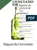 Reporte de Lectura 8 2012 del Siglo de Oro Español El Licenciado Vidrera
