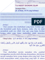 Ayat-Ayat & Hadist Ekonomi Islam