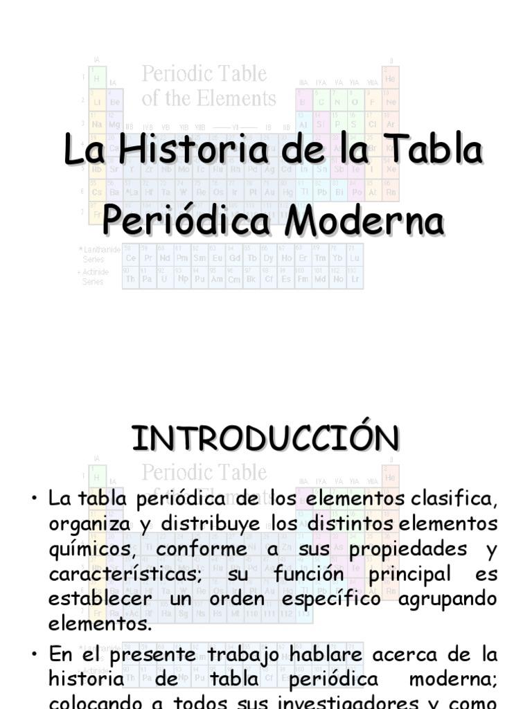 historia tabla periodica - Tabla Periodica De Los Elementos Resena Historica