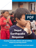 Temporary Learning Centres in Nepal - Earthquake Response