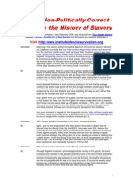 Some Non-Politically Correct Facts on the History of Slavery