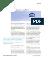 Oct 2009 Audit Committee Brief - Financial Literacy - Deloitte