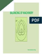 Balancing of Machinery