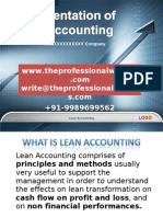 Case Study - Lean Accounting - Traditional Accounting Practices
