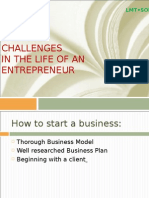3. Challenges for Entrepreneur