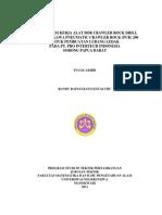 studi Sistem Kerja Alat Bor Crawler Rock Drill (Crd) Furukawa Pneumatic Crawler Rock (Pcr) 200 Untuk Pembuatan Lubang Ledak Pada Pt. Pro Intertech Indonesia Sorong