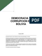 Democracia y Corrupcion en Bolivia