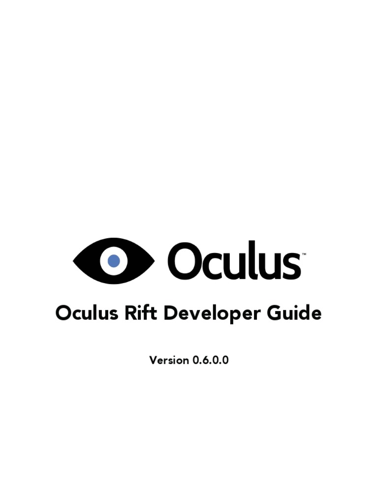 Oculus Developer Guide   Stereoscopy   Rendering (Computer Graphics)