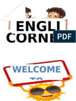 english corner sign