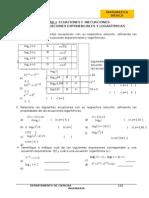 Hoja de Trabajo 04 2014 II-ecuaciones Exponenciales y Logarítmicas