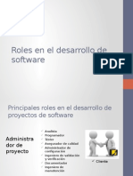 Roles en el desarrollo de software