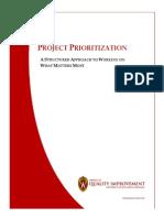 Project Prioritization Guide v 1