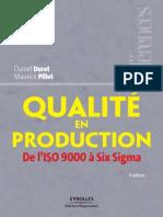 Qualite en Production - De l'ISO 9000 a Six Sigma