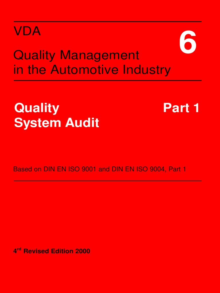 Vda 6 1 Quality Management System Audit