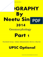 1. Geomorphology by Neetu Singh Part 1 of 14. by Raz Kr ( Geography Optional)