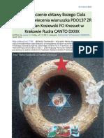 Na zakonczenie oktawy Bozego Ciala Oktawa Poswiecenia Wianuszka PDO137 ZR von Stefan Kosiewski FO Knesset w Krakowie Rudra CANTO DXXIX