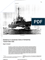 Resistance  of a systematic series of semiplaning transom stern hulls Roger H Compton