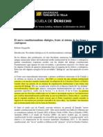 Justicia Dialogica y Frenos y Contrapesos Gargarella