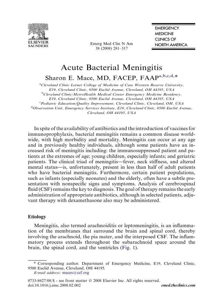 Acute Bacterial Meningitis | Meningitis | Beta Lactamase