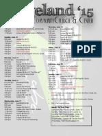 Missions Trip Schedule