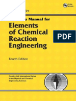 Solution Manual Elements of Chemical Reaction Engineering 4th Edition