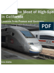 Making the Most of High-Speed Rail in California