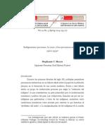 Indigenismo peruano, la raza, y los peruanos asiáticos, 1900-1930