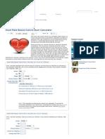 Heart Rate Based Calorie Burn Calculator