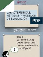 Características, Método y Modelos de Evaluación Psicológica