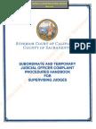 Complaint Procedures Handbook for Supervising Judges