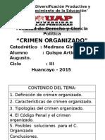 Crimen Organizado Diapositiva