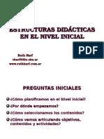 ESTRUSCTURAS DIDACTICAS EN NIVEL INICIAL
