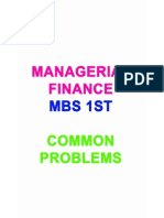 Managerial Finance Mbs 1st