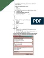 Test de Outlook Express (MenÚs Ver, Herramientas,