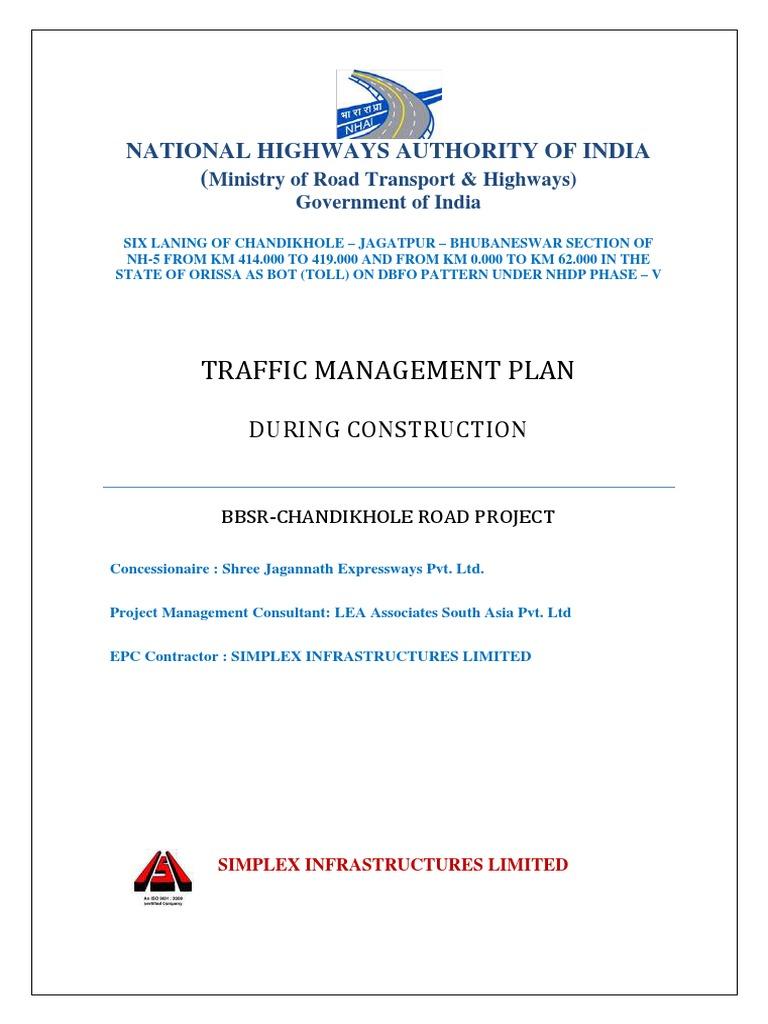 Traffic Management Plan   Traffic   Road