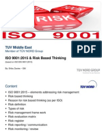 Iso9001 2015 Risk Management Linkedin