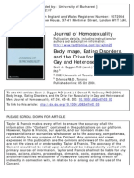 Body Image, Eating Disorders, and the Drive for Muscularity in Gay and Heterosexual Men