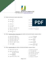 Uab - Sergio Mendes - Lista Exercicios - Tecnicas de Derivacao