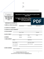 09 ILEP Application, Reference and Institution Support Form