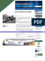 06-10-2015 Por concluir programa de caídos en la ciudad