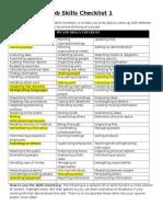 job skills checklist page 1 and 2