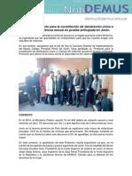 NotiDEMUS Aprueban Protocolo para la constitución de declaración única a víctimas de violencia sexual en prueba anticipada en Junín